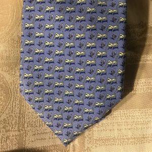 Vineyard Vines Blue Neck Tie Grasshoppers